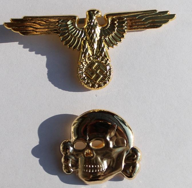 Waffen-SS / Allgemeine-SS Cap Set in Gold